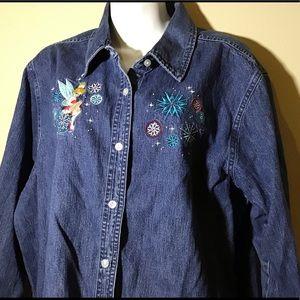 Disney XXl Denim button down shirt